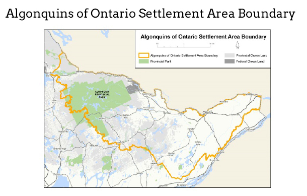 Algonquins of Ontario Settlement Area Boundary